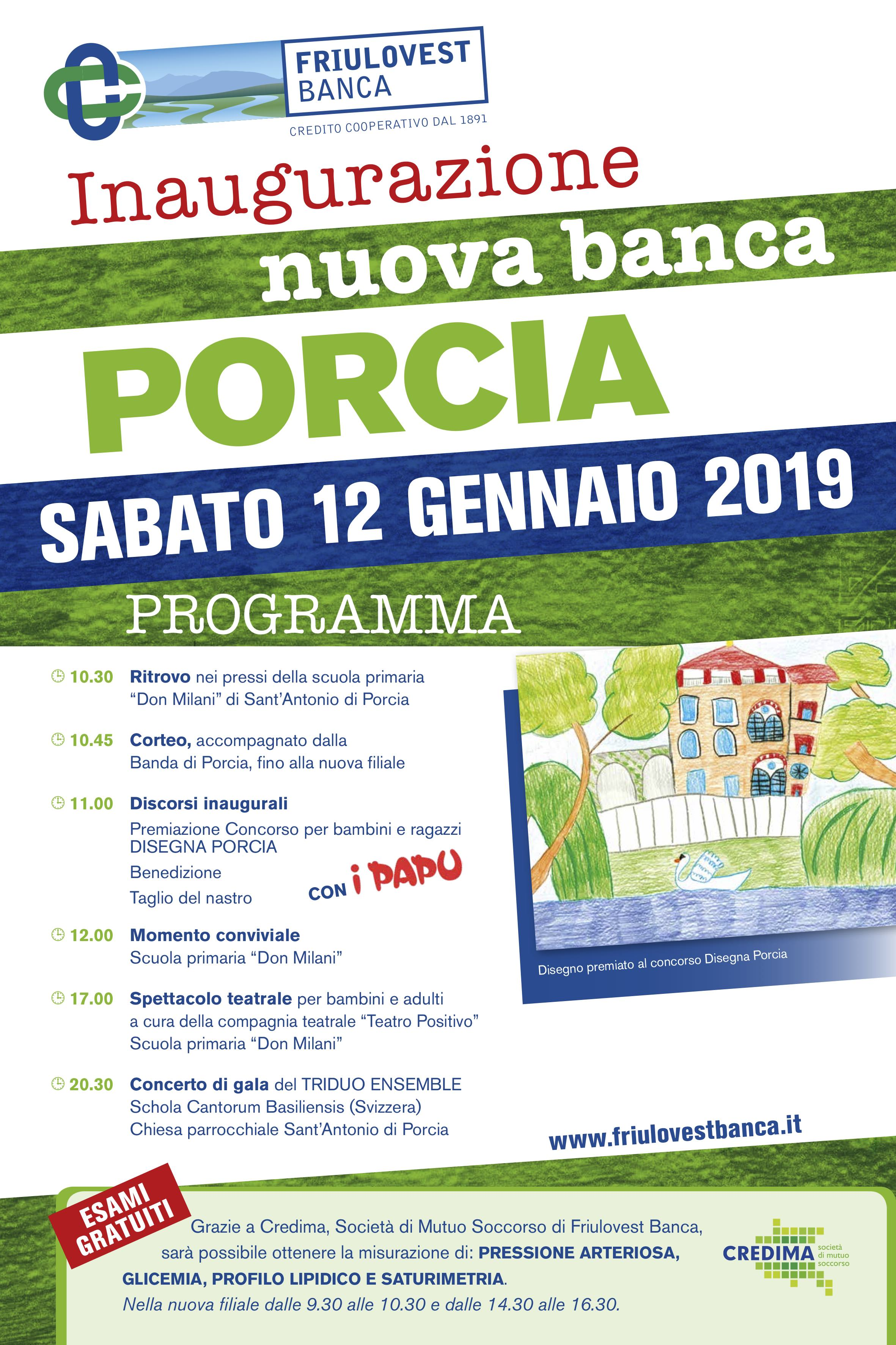 Porcia PN - Sab 12 Gennaio 2019 @ Sant'Antonio di Porcia